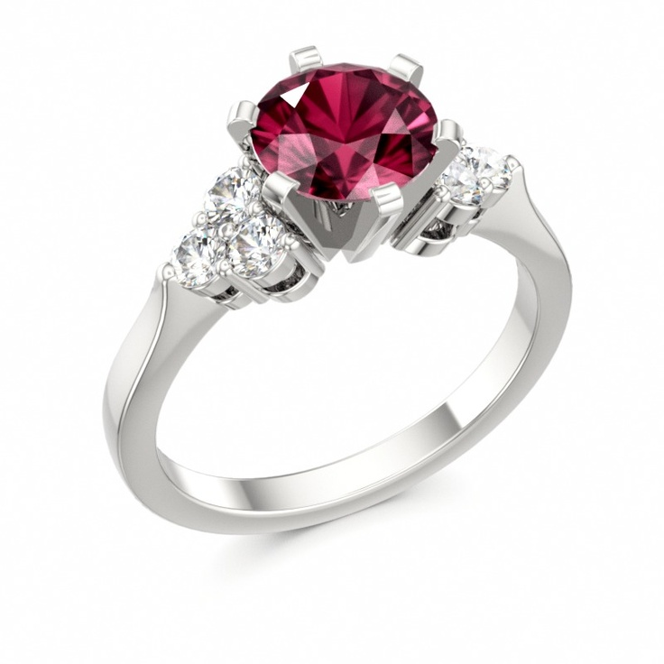 Amazing Engagement Ring Colors of Eden customizable jewelry garnet diamond gold