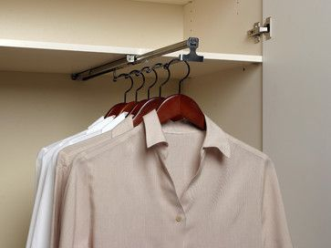 Retractable Valet Rod Contemporary Clothes Racks