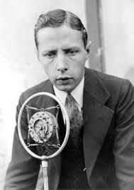 """Source: Photograph, foster Hewitt, 1923. This is Foster Hewitt; he was an NHL hockey broadcaster. He was the first person to coin the phrase, """"He shoots, he scores!"""" The National Hockey League was first created in 1917 and by the 1920s there were five teams. Most of the players were Canadian. Families would listen to the broadcast by radio. this was a very popular past-time."""