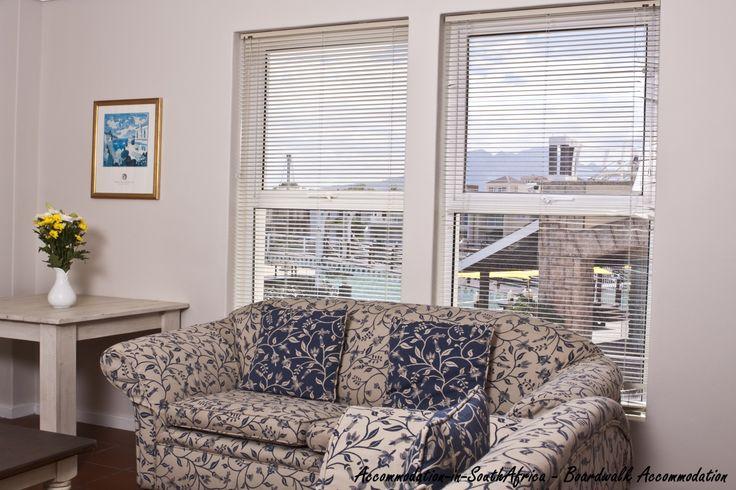Lounge at Boardwalk Accommodation. Accommodation Gordon's Bay. Boardwalk Accommodation. Self-catering accommodation in Gordon's Bay.