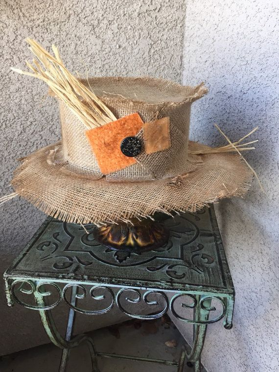 Scarecrow Hat by BBAHomemade on Etsy                                                                                                                                                                                 More