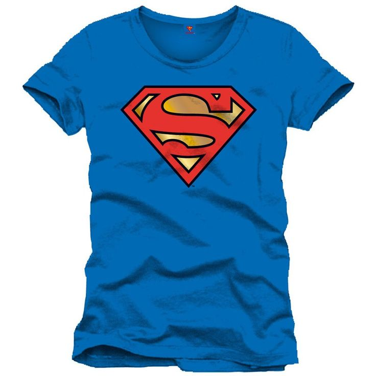 Tee-Shirt Bleu Logo Rouge Superman