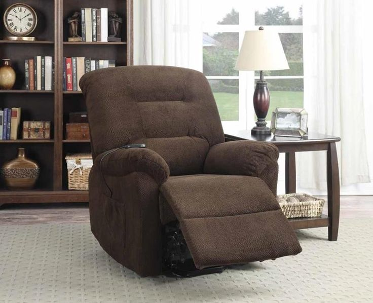 Chocolate Chenille Fabric Power Lift Recliner Chair 600397 by Coaster & 26 best Power Lift Chairs images on Pinterest | Lift recliners ... islam-shia.org