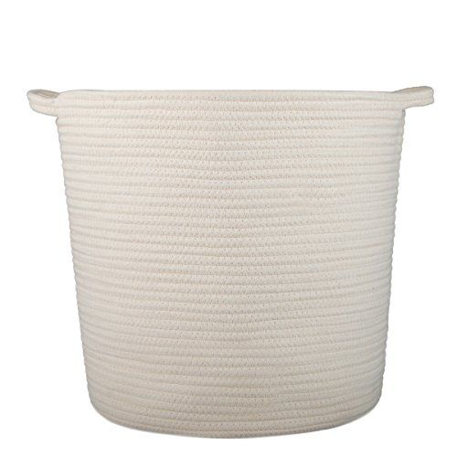 Indressme Extra Large Storage Baskets Cotton Rope Basket Woven