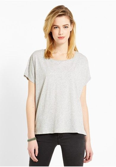 Campus T-Shirts Short Sleeve 51265 Damen Basic T-Shirt, grau, size: L