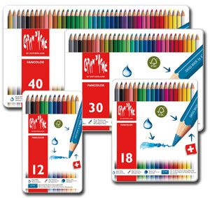 Caran D'Ache Fancolor Water-soluble Pencil Tins