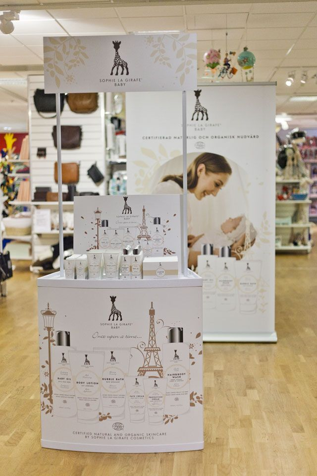 Nordiska Kompaniet Stockholm in Sweden launched Sophie la girafe Cosmetics among first stores in the world in November 2013  #sophielagirafecosmetics #sophielagirafe #skincare #launch #awarded #stockholm #sweden #bigsmallcompany