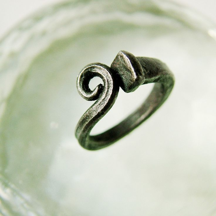 Love this!! (If its real iron) Scrolled Iron Nail Ring by CitiZenoBjeCts on Etsy, $55.00
