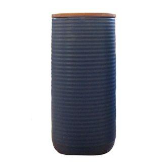 CERAMICS - Ceramic & Wood Storage Jar - Kerridge Linens & More