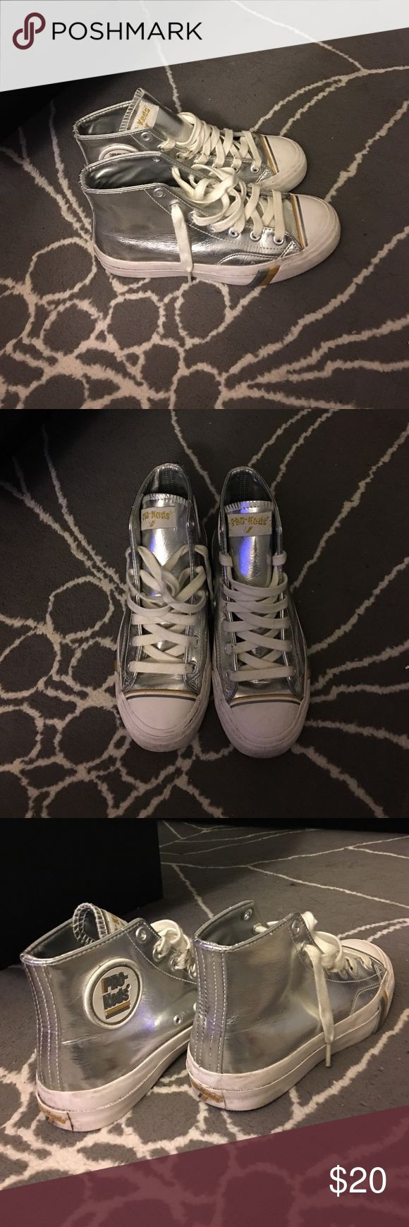 Silver Pro-Keds Silver retro pro keds. Man made upper. Comfortable and true to size. Keds Shoes Sneakers