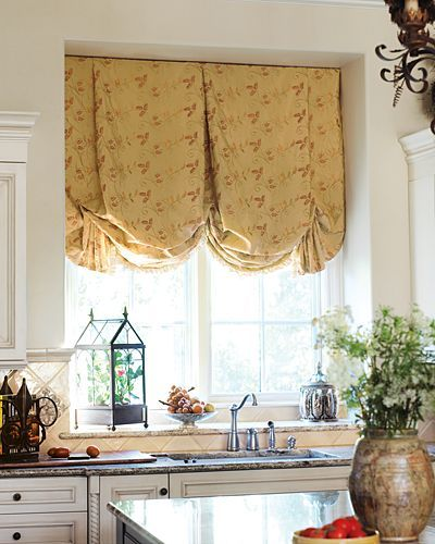 Like curtains they re made usually of cloth but like for Fabric shades for kitchen windows