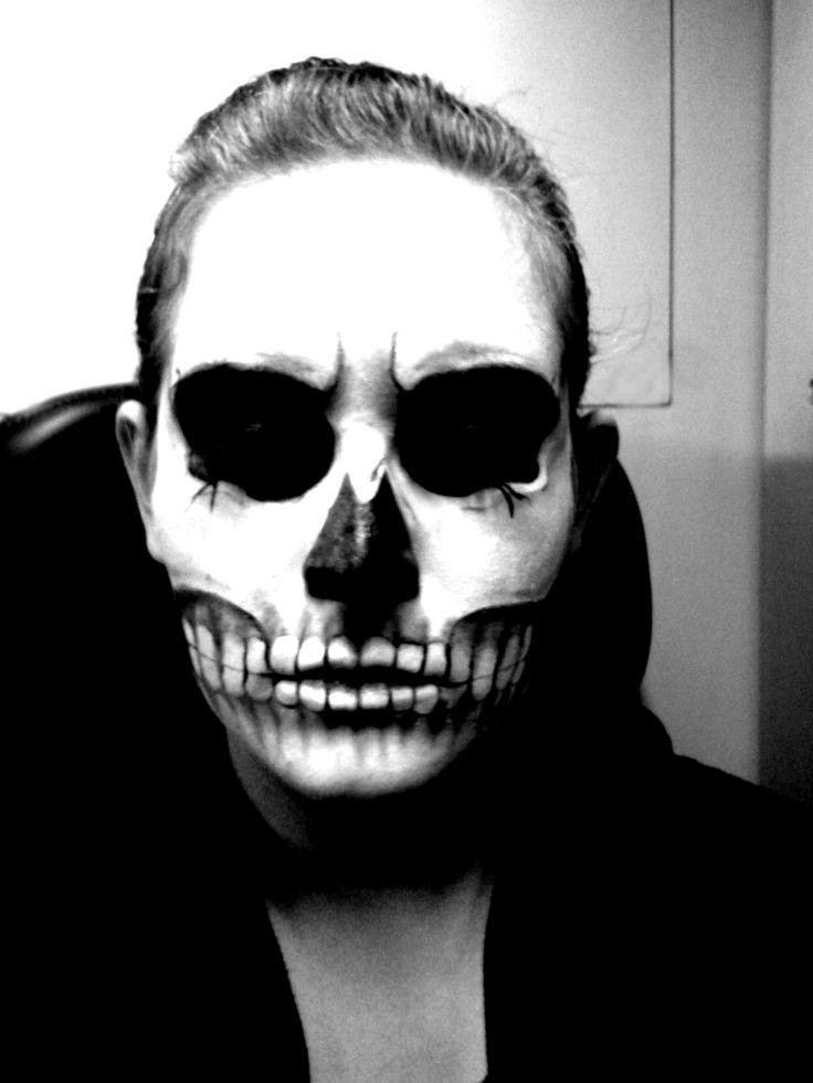 skull make up by NashiHoshi.deviantart.com on @deviantART