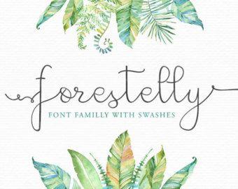 Forestelly è un carattere collegato di calligrafia moderna premium che è fatto per gli inviti di nozze, busta arte e soprattutto piccole imprese