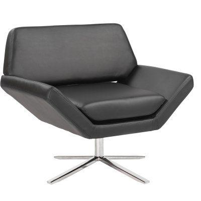 Best Euro Style Carlotta Swivel Lounge Chair 05007Blk 400 x 300
