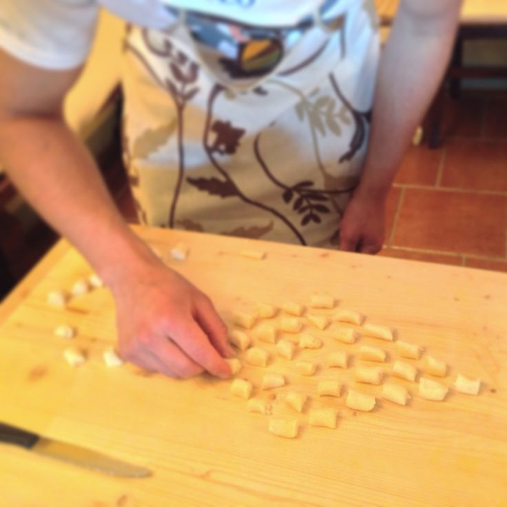 A college from USA came for a #cooking class and they did a wonderful job with this gnocchi! #Guardastelle #Tuscany  www.guardastelle.com