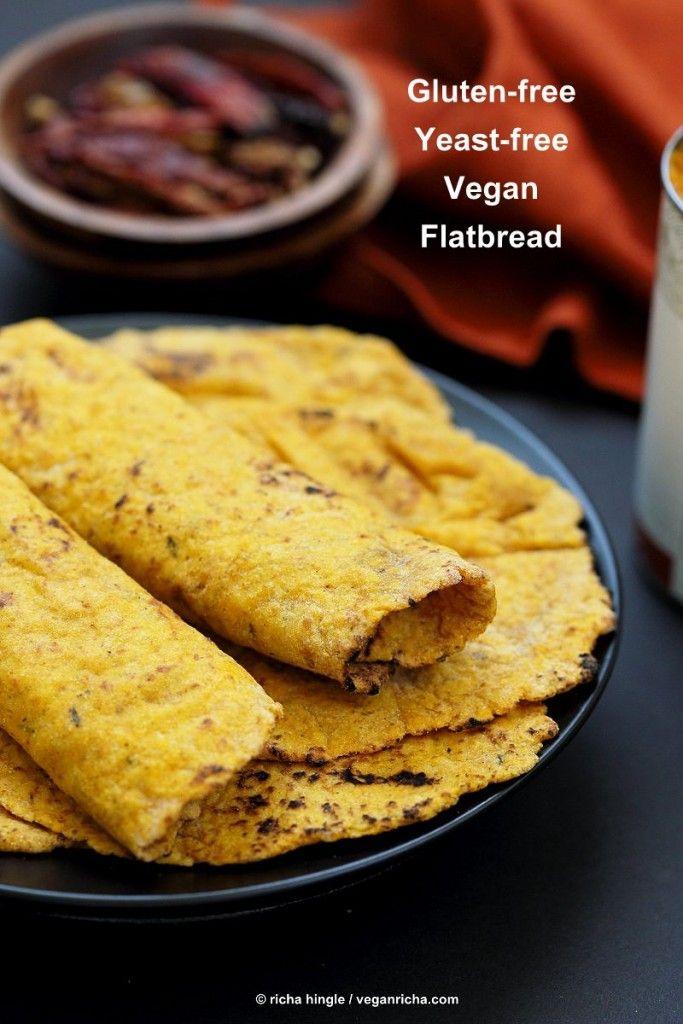 Easy Homemade Yeast-free Sweet Potato Vegan Gluten free flatbread. Sweet Potato flatbread w/ chickpea flour, rice flour & psyllium husk. Gum-free Eggless Oat-free Recipe