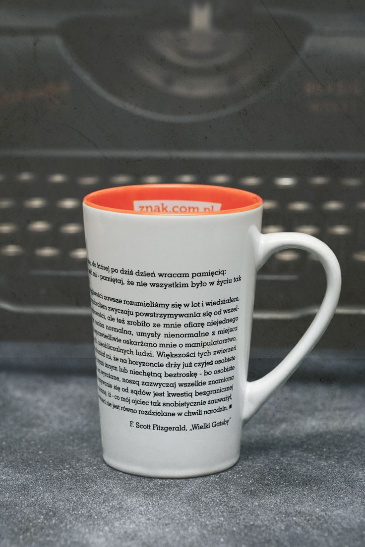 """Wielki Gatsby"" - kubek pasjonata literatury pięknej. #KubekLiterata #WielkiGatsby #FrancisScottFitzgerald #gadzet"