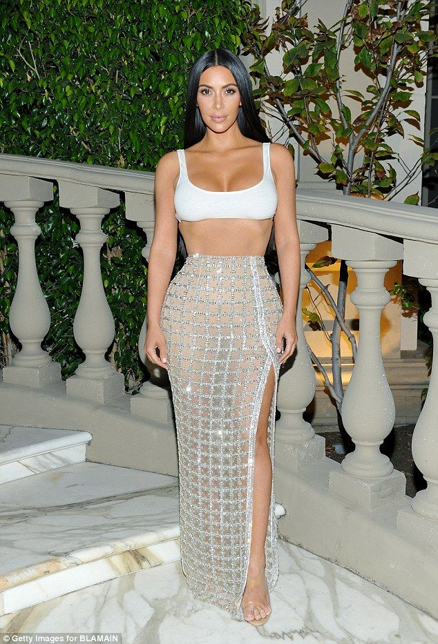 Hourglass: Reality star Kim Kardashian was also in attendance, flaunting her impossibly hourglass shape