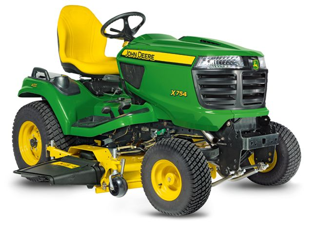 4-Wheel Steer Lawn Tractor | Riding Mower | X754 | John Deere US