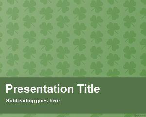 Plantilla PowerPoint de Trébol Gratis
