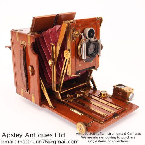 Very-Rare-4x5-De-Luxe-Tropical-Tropen-Lizars-Challenge-Camera-Teak-Not-Mahogany