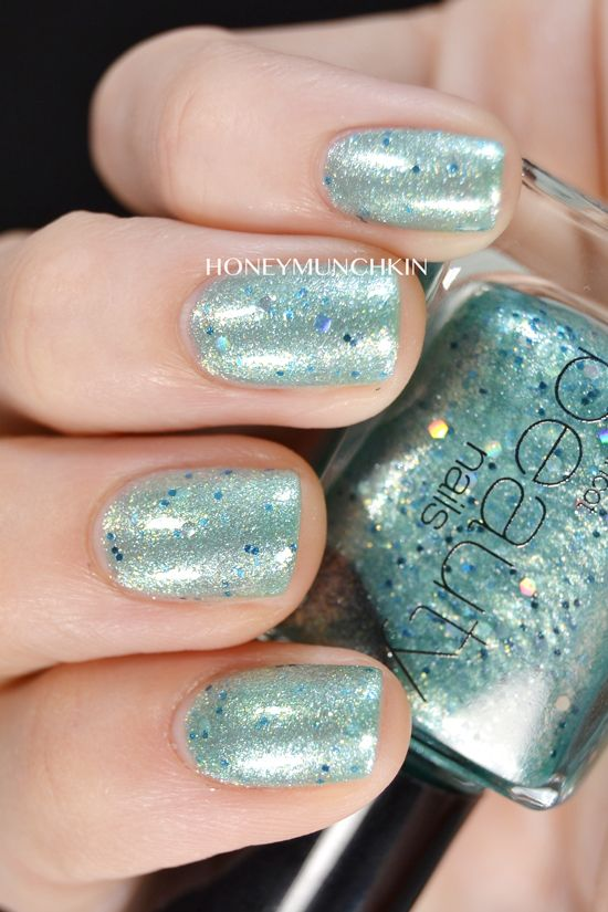 Swatch of Gina Tricot Beauty - 182 Turquoise Dust from honeymunchkin.com