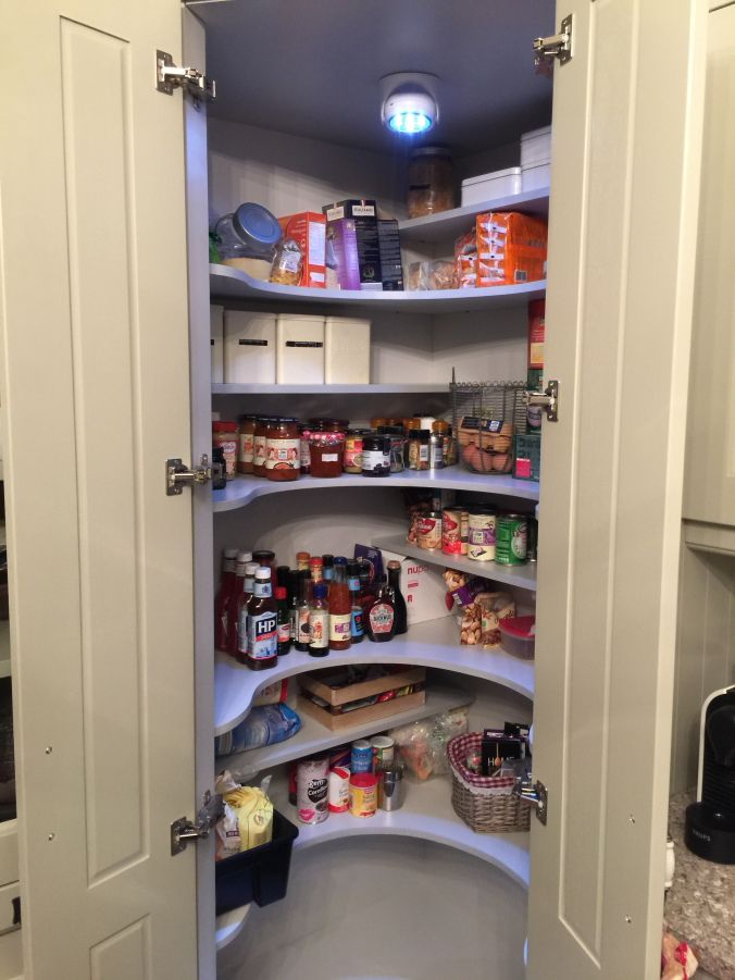 Small Cupboard Pantry Organization