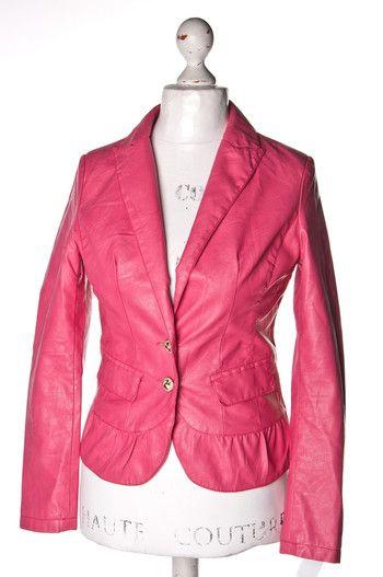 #Różowa a'la #skórzana #kurtka   Jacket #Osley #wzorcownia