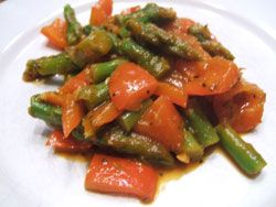 Asparagus and red pepper mix