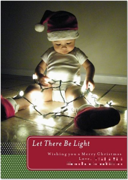 "DIY Christmas photo cards ""Let There Be Light"""