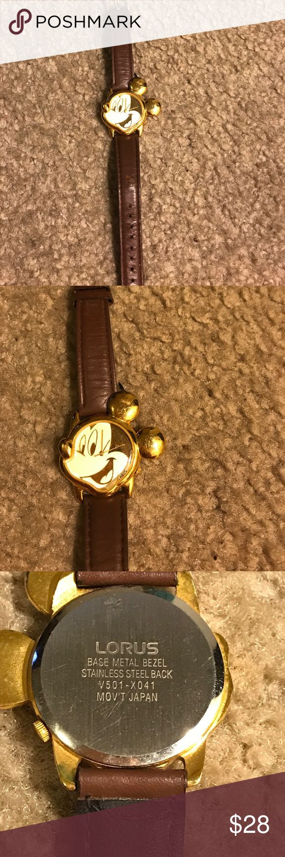 Lorus Mickey Mouse watch Lorus Base Metal Bezel Stainless Steel back V501-X047 MOVT Japan Lorus Accessories Watches