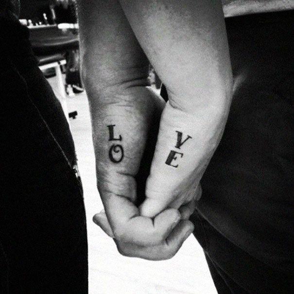 80 tatouages minimalistes à faire en couple ! L'amour dans la peau...