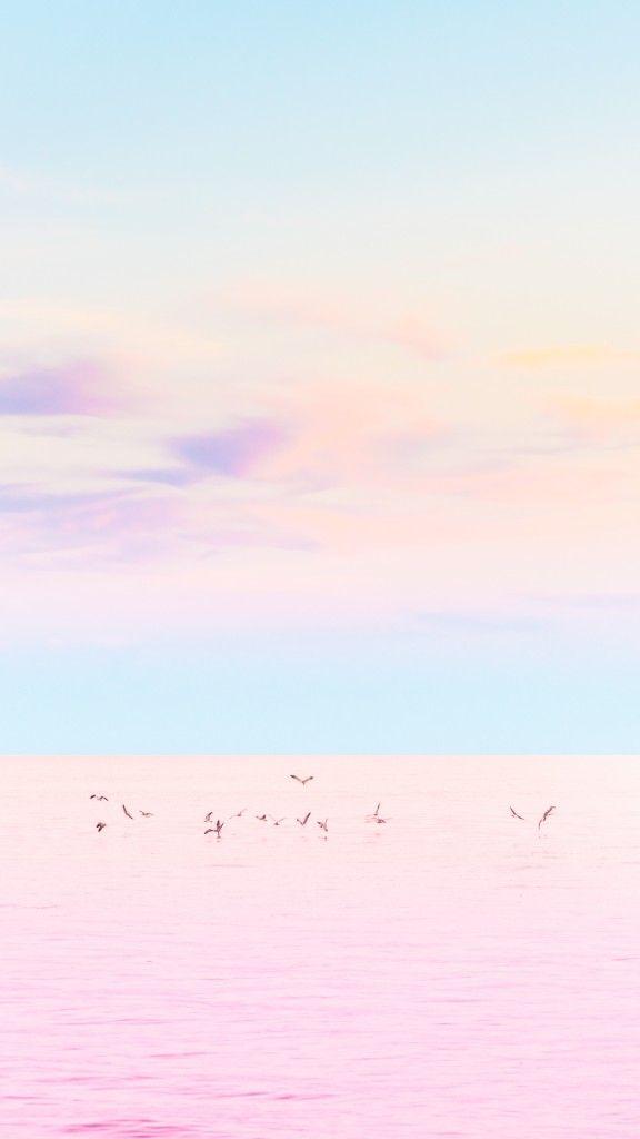 [おしゃれカラーシリーズ]海と鳥iPhone壁紙 iPhone 5/5S 6/6S PLUS SE Wallpaper Background