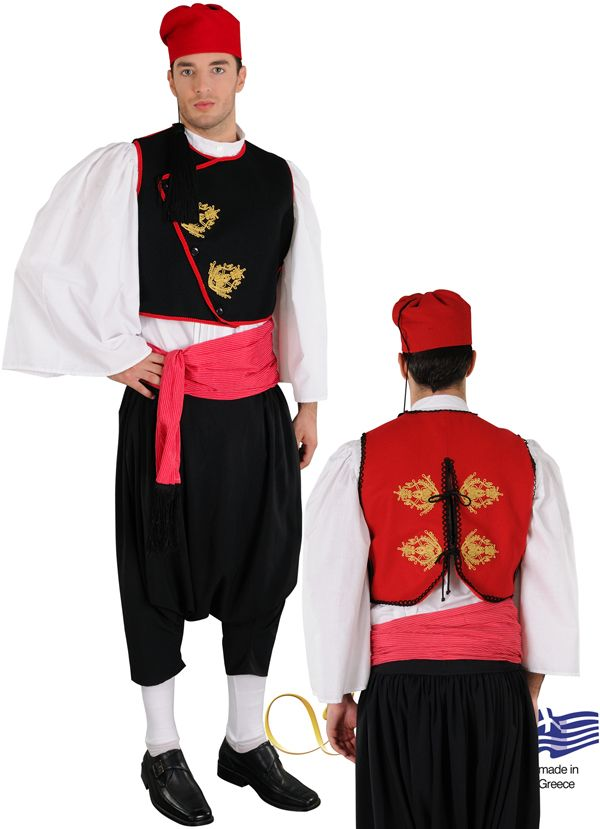 Man from Cyclades on embroidered vest - 642095