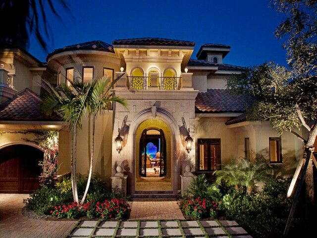 Weber design group in naples fl stucco archway for Luxury mediterranean home designs