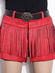 Women's+Solid+Red+/+Black+/+Yellow+Shorts+PantsStreet+chic+Winter+–+USD+$+16.65