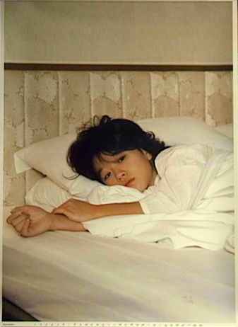 中森明菜 1986年カレンダー Photograph NOBUMITSU SHIMIZU Design SOBI KIKAKU CORP Stylist KUNIKO HIGASHINO Hair and Make up SUMIO YANO KEN KIKAKU ...