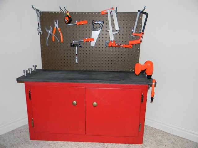Undone: DIY Toddler Workbench {Practicing Pinterest}