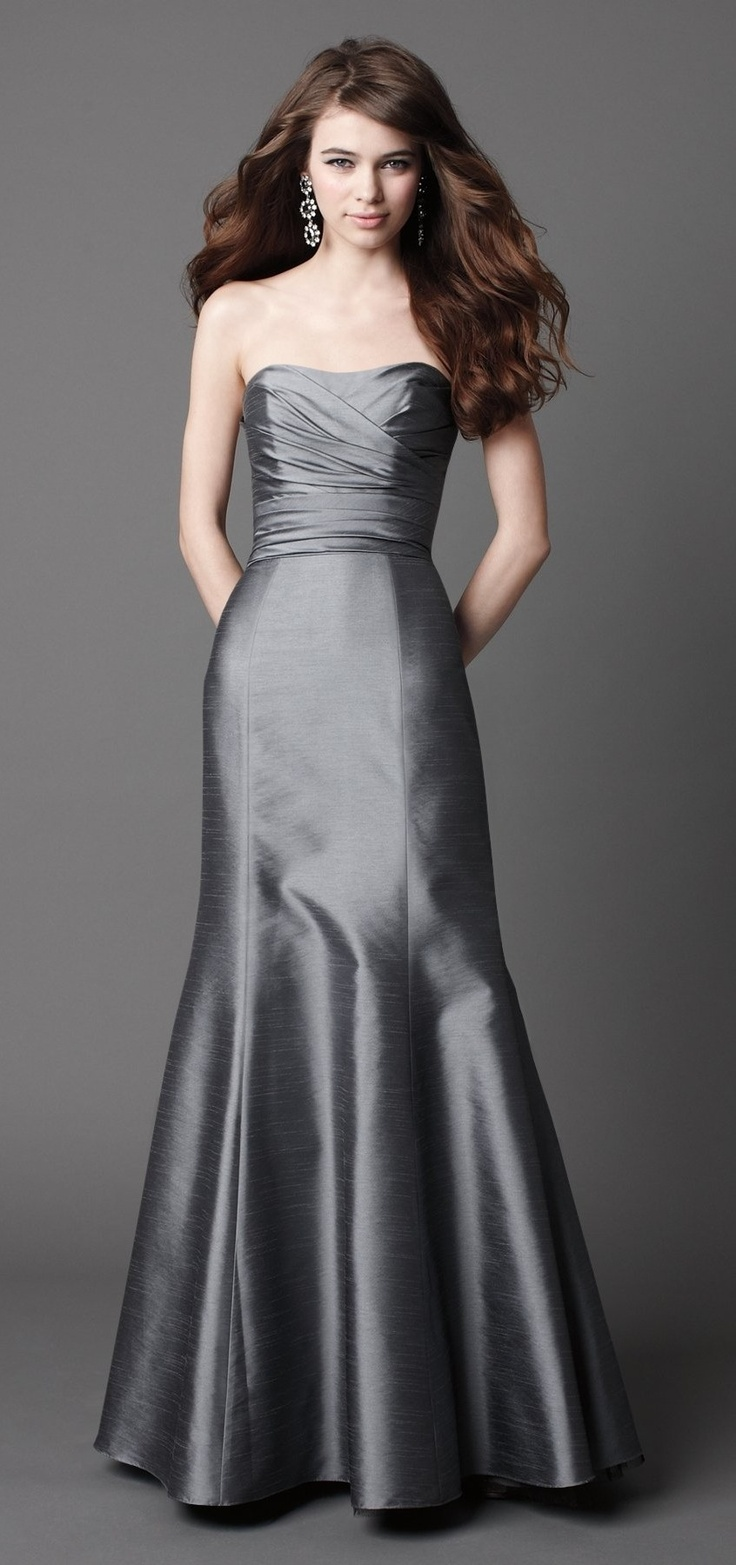 96 best silver weddings images on pinterest silver weddings glamorous sleeveless trumpet mermaid bridesmaid dress in silver gray ombrellifo Image collections