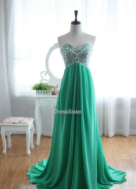 Green Prom Dress Long Prom Dress
