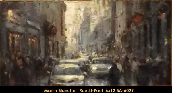 Original oil painting on canevas by Martin Blanchet #MartinBlanchet #Artist #CanadianArtist #QuebecArtist #Art #Oilpainting #OriginalPainting #FineArt #CityLandscape #GrayDay #StPaulstreet #Balcondart