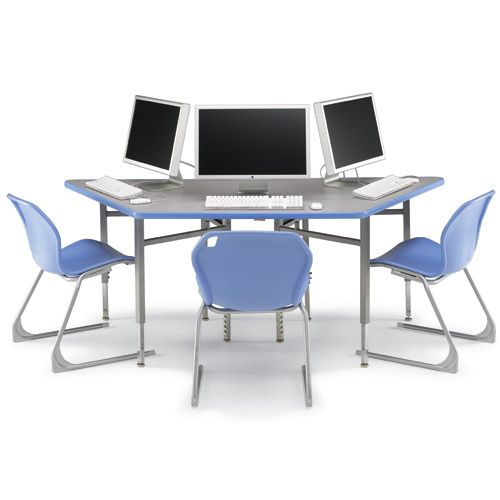 Smith System 24580 Trapezoid Workstation - Today's Classroom