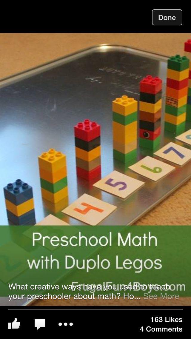 preschool math with LEGO