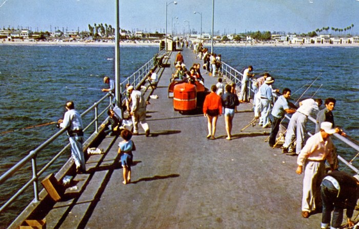 Seal beach pier fishing pictures to pin on pinterest for Jones beach fishing pier