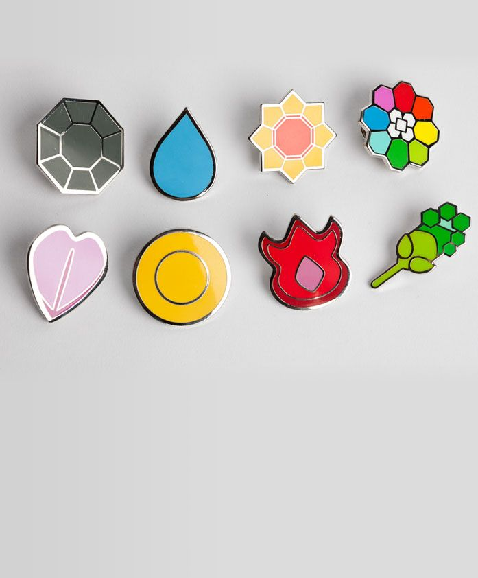 The original Pokemon Gym Badges!