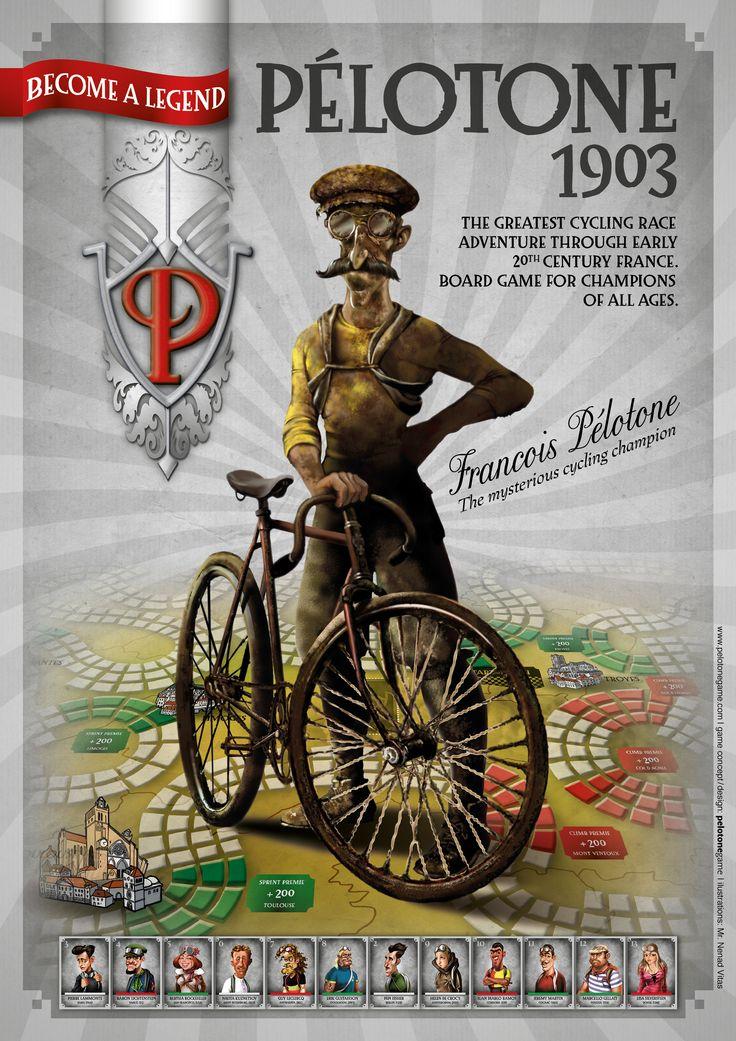 Boardgame Pélotone1903 poster