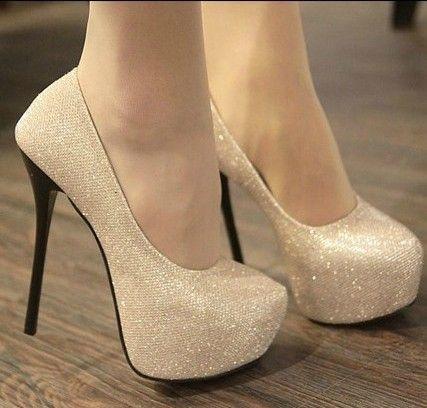 sexy elegant Spangle high-heeled shoes