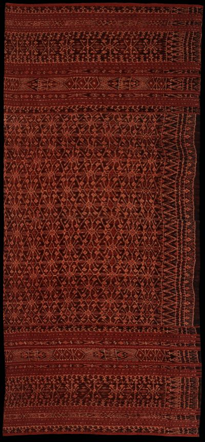 Lawo : warp Ikat sarong from Lio, Flores, Indonesia 1950