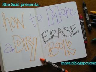 dry erase book!