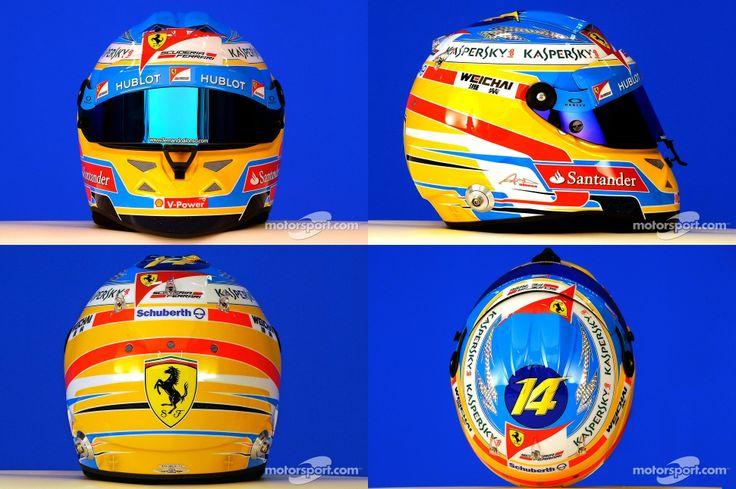 Fernando Alonso helmet Ferrari